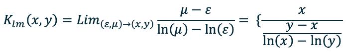 Среднее логарифмическое – формула