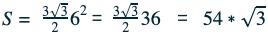 S= 33262= 33236 = 54*3