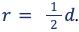 r= 12d