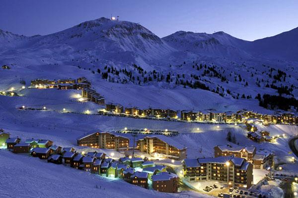 Альпийский горнолыжный курорт во Франции