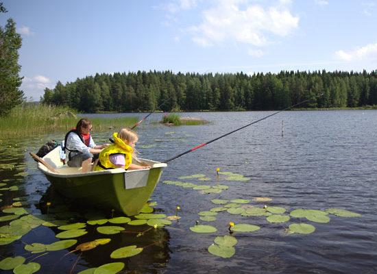 Летняя рыбалка в Финляндии