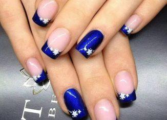 Как сделать красивый маникюр: рисунки на ногтях на синем лаке