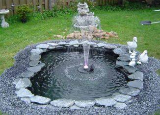 Строительство фонтана на дачном участке своими руками