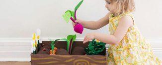 Воспитание детей: мини-огород для ребёнка на даче