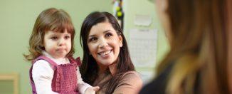 Детский сад, разговор с воспитателем