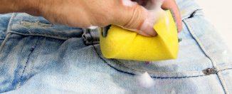Как выводить жирные пятна, жирное пятно на джинсах