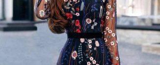 Шифоновые платья, правила выбора прозрачного платья