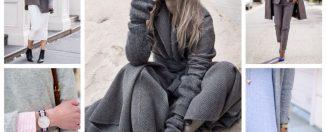 Оттенки серого в одежде: как и с чем сочетать