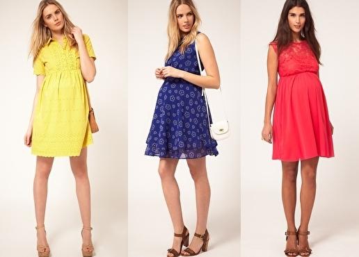 Цветовая палитра одежды для беременных