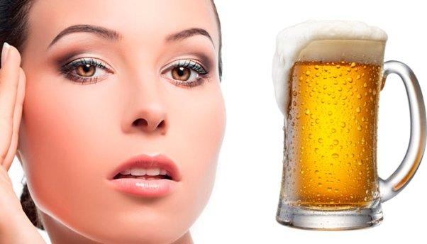 Маски для лица из пива