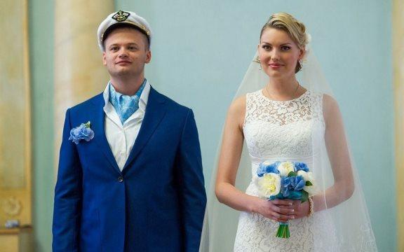Свадебная одежда в морском стиле